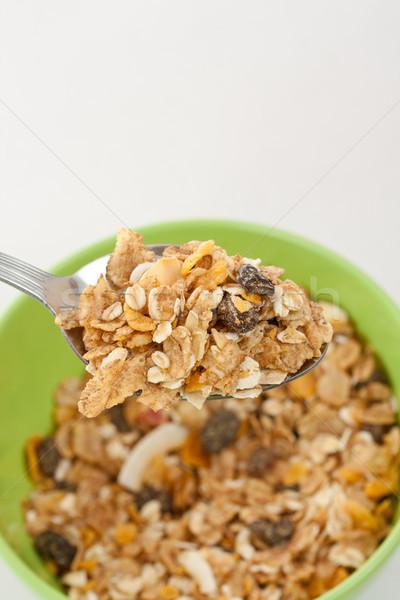 Müsli heerlijk gezonde ontbijt drogen Stockfoto © grafvision