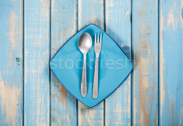 Blue dinner set  Stock photo © grafvision