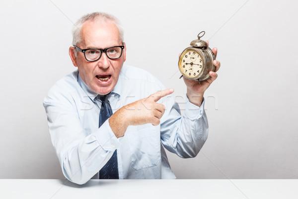Il tempo è denaro imprenditore ufficio uomo d'affari lavoro Foto d'archivio © grafvision