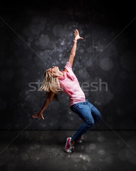 Zdjęcia stock: Hip · hop · tancerz · młoda · kobieta · ściany · moda · ulicy