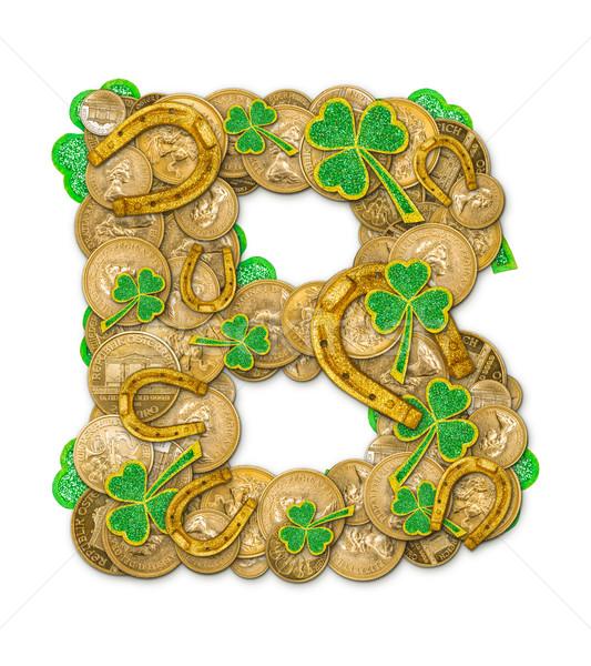 St. Patricks Day holiday letter B  Stock photo © grafvision