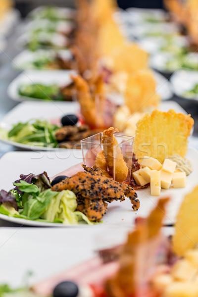 Caliente camarón aperitivos queso chips alimentos Foto stock © grafvision
