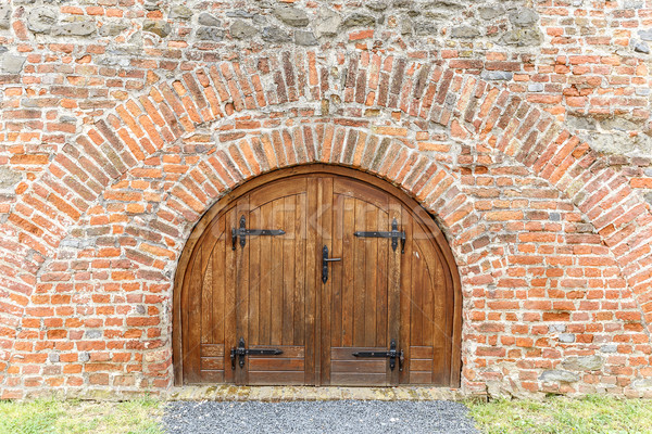 Old wooden gate Stock photo © grafvision