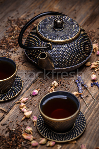 Cast iron teapot Stock photo © grafvision