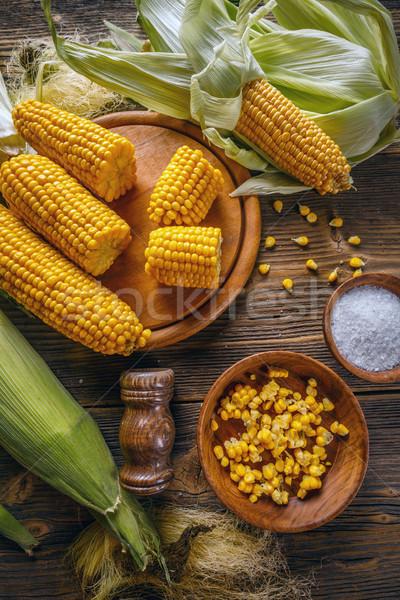 Golden corn cob Stock photo © grafvision