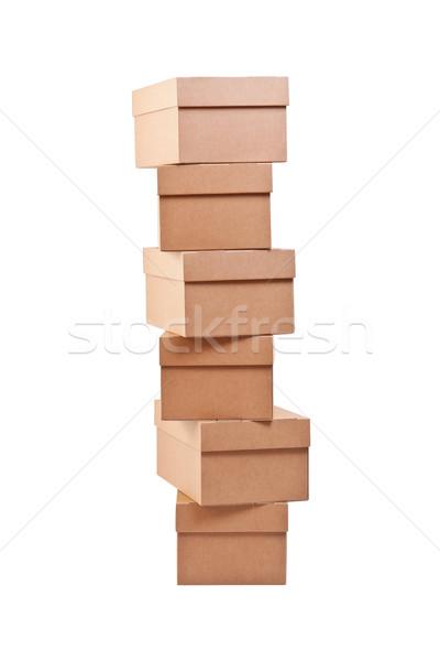 Brown cardboard boxes Stock photo © grafvision