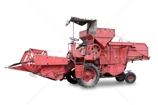 Red old combine Stock photo © grafvision