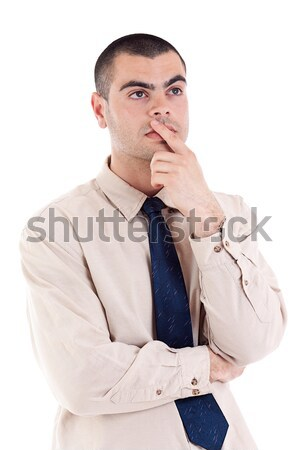 young thoughtful businessman Stock photo © grafvision