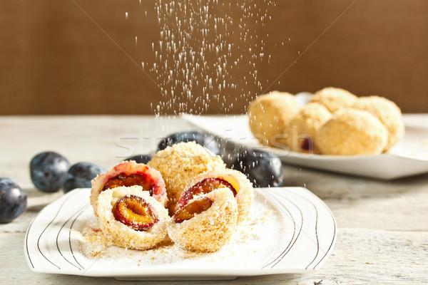 Plum dumplings Stock photo © grafvision