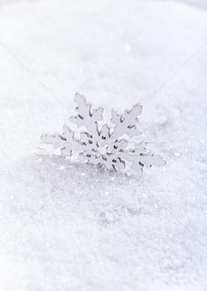 Snowflakes on snow Stock photo © grafvision