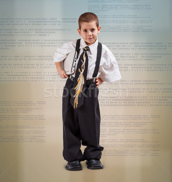 Boy in business suit Stock photo © grafvision
