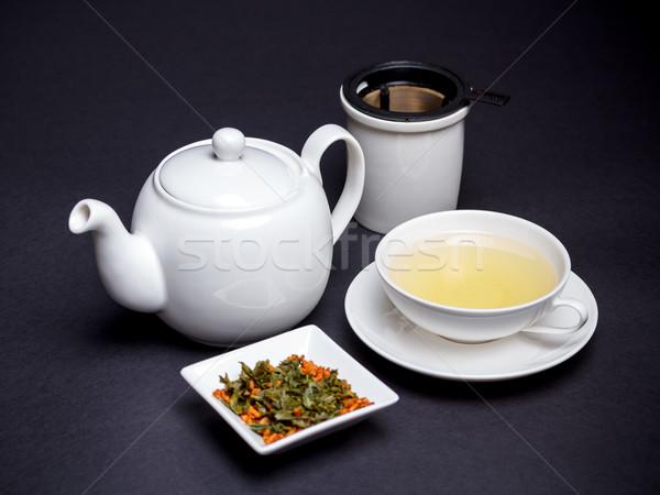 зеленый чай Кубок поджаренный риса пить кукурузы Сток-фото © grafvision