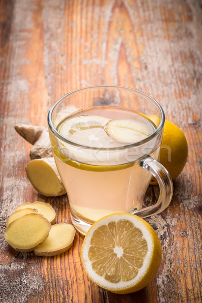 Zenzero tè sani limone salute Cup Foto d'archivio © grafvision