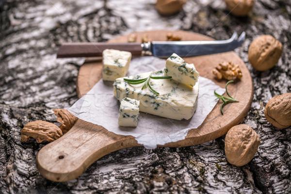 Peynir dilim biberiye somun gıda ürün Stok fotoğraf © grafvision