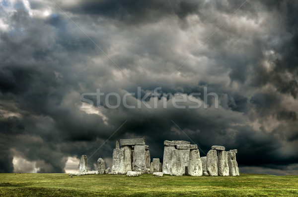 Stonehenge nuageux ciel Angleterre nuages monde Photo stock © grafvision