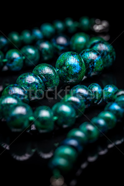 Nyaklánc fekete szín ékszerek ékszerek stílus Stock fotó © grafvision