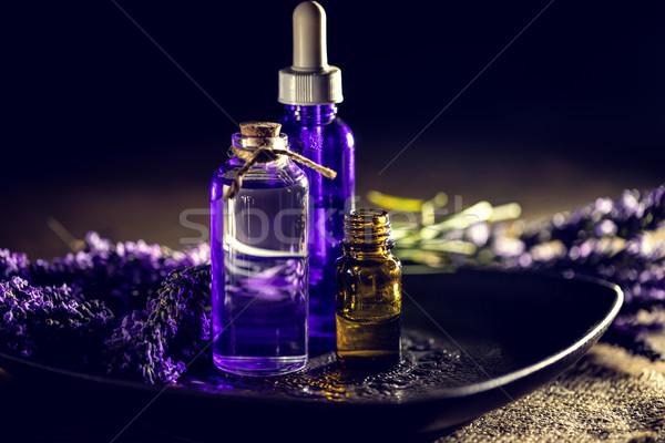 Illóolaj levendula virágok egészség olaj fürdő Stock fotó © grafvision