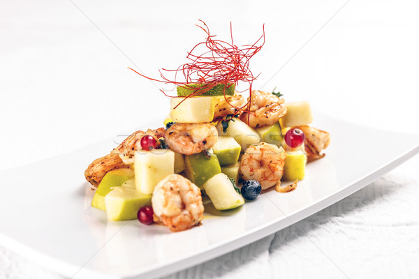 Shrimps with fruits Stock photo © grafvision