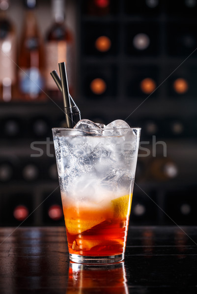 Red fruit cocktail Stock photo © grafvision