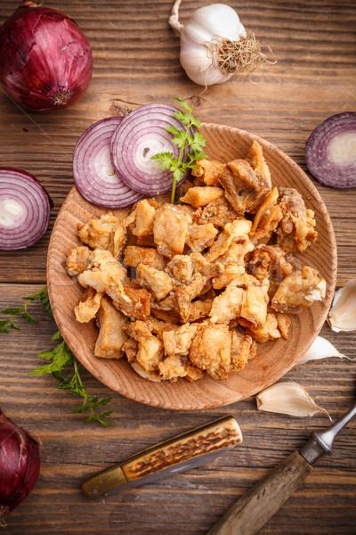 Homemade pork crackling Stock photo © grafvision