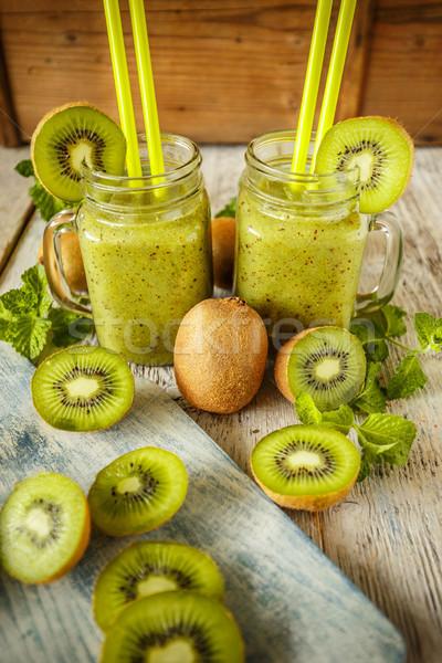 Fresh homemade kiwi smoothies  Stock photo © grafvision
