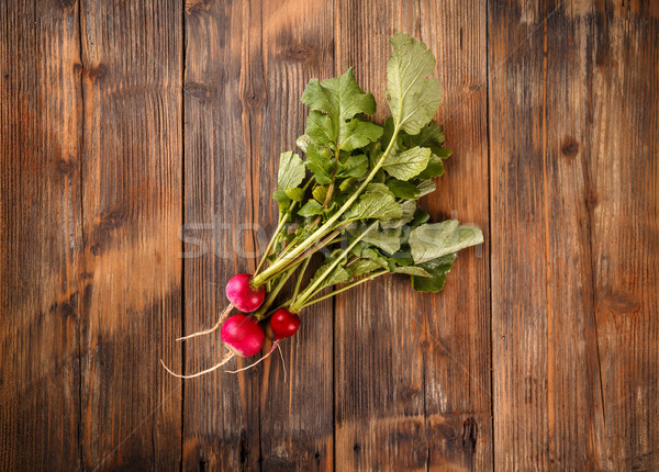 Freshly harvested red radishes Stock photo © grafvision