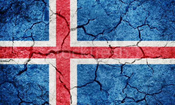 Stock photo: Iceland flag