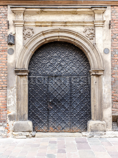 Rusty metal puerta antigua grabado iglesia Foto stock © grafvision