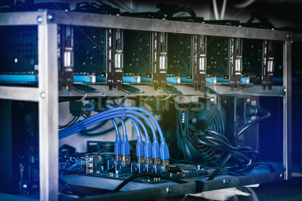 Close up details of mining rig Stock photo © grafvision