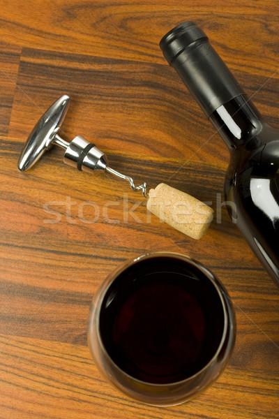 ワイン 赤ワイン ガラス ディナー 波 ブドウ ストックフォト © grafvision