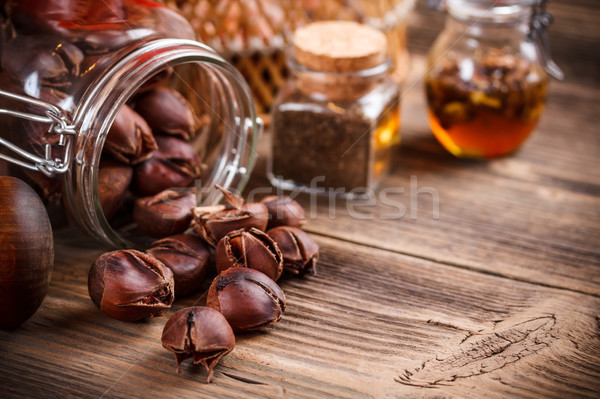 Sweet roasted chestnuts  Stock photo © grafvision