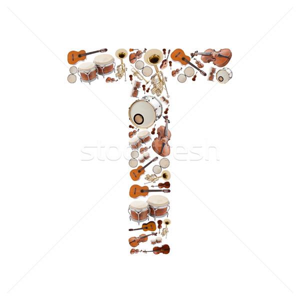 楽器 手紙 アルファベット 白 ツリー ストックフォト © grafvision