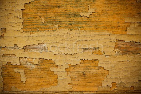 Alten schäbig Holz Planken geknackt Farbe Stock foto © grafvision