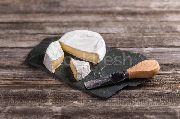 Camembert queso vintage estilo fondo piedra Foto stock © grafvision