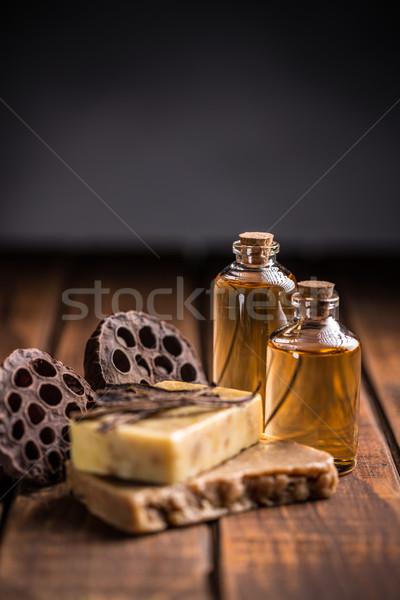 Ancora vita sapone bar vaniglia oli essenziali Foto d'archivio © grafvision