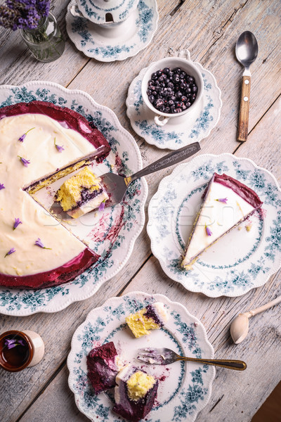 Cake with cream cheese Stock photo © grafvision