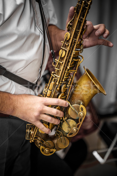 Musician playing the saxophone Stock photo © grafvision