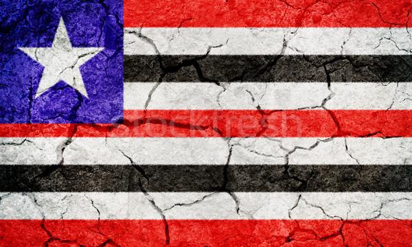 Бразилия флаг высушите земле землю текстуры Сток-фото © grafvision