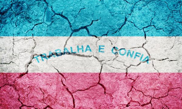 Zdjęcia stock: Brazylia · banderą · wyschnięcia · ziemi · ziemi · tekstury