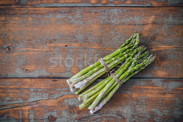 Fresh asparagus bunches Stock photo © grafvision