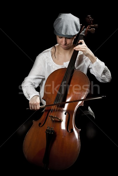 girl playing cello  Stock photo © grafvision