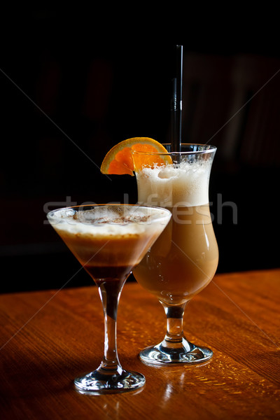 Irish coffee and coffee cocktail Stock photo © grafvision