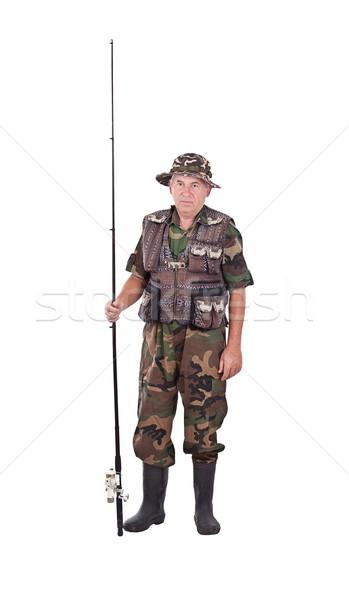 Senior fisherman Stock photo © grafvision