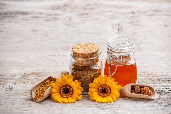 Stilleven honing propolis stuifmeel bloem bee Stockfoto © grafvision