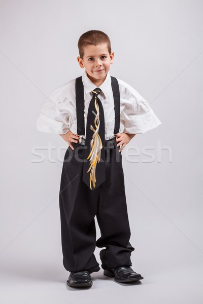 Little business boy Stock photo © grafvision