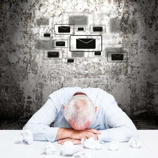 疲れ果てた ビジネスマン 疲れ 夢 文字 オフィス ストックフォト © grafvision