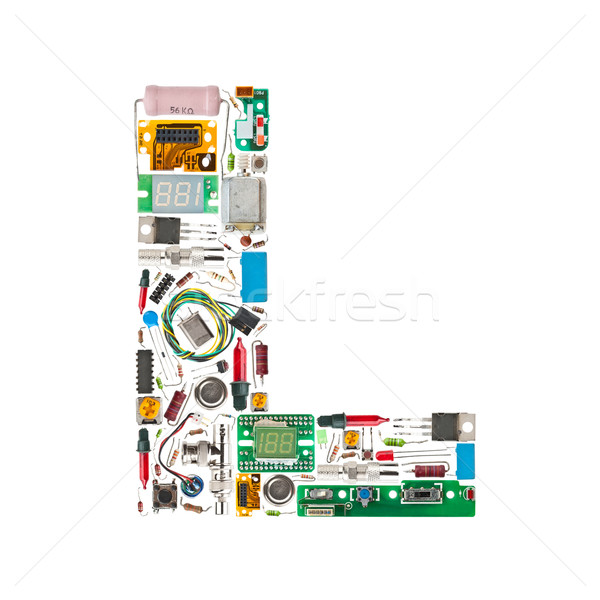 electronic components letter Stock photo © grafvision