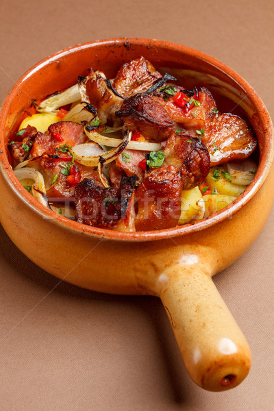Potatoes baked with pork meat Stock photo © grafvision