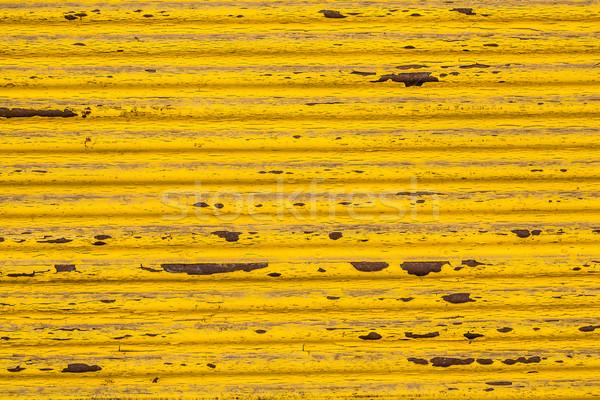 Giallo superficie metallica arrugginito texture muro metal Foto d'archivio © grafvision