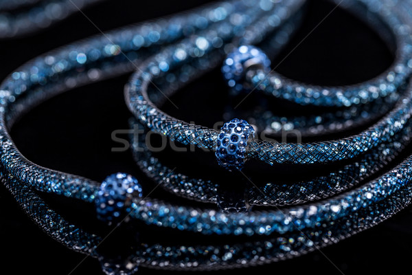 Vrouwelijke ketting klein glas stenen mooie Stockfoto © grafvision